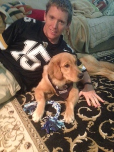Tucker has to deal with 2 college teams and 2 NFL teams to root for. Purdue with Daddy...
