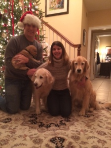 Family photo with Tucker, Emily and Spenser