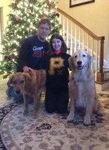 Tucker and Spenser enjoying Christmas