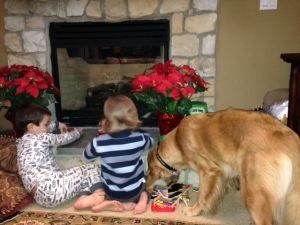 Tucker even has little human friends aka cousins he loves!